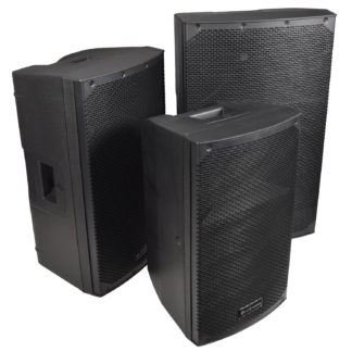 Citronic CAB Series active cabinet speakers with Bluetooth link