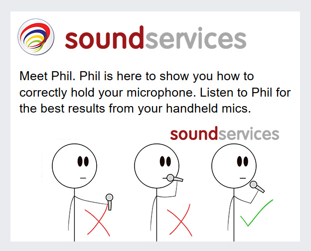 Meet Phil. Phil is here to show you how to correct hold your microphone. Listen to Phil to get the best results from your handheld mics.