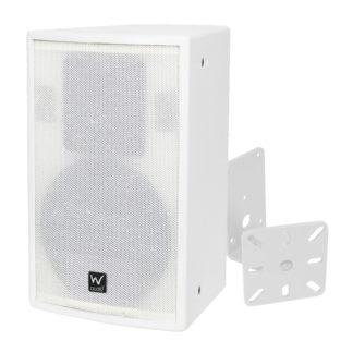 SR 10 white wall mounted cabinet speaker + BRAC04 white wall mounted speaker bracket