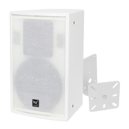 SR 10 white wall mounted cabinet speaker + BRAC04 white wall mounted speaker bracket