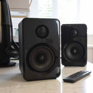 ABS35BLK active Bluetooth bookshelf speakers