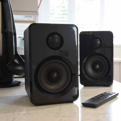 ABS35BLK active Bluetooth bookshelf speakers