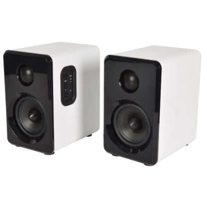 ABS35WHT active Bluetooth bookshelf speakers