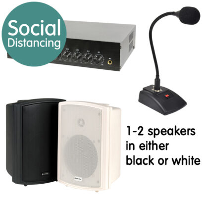 Announcer Series indoor and outdoor social distancing sound systems