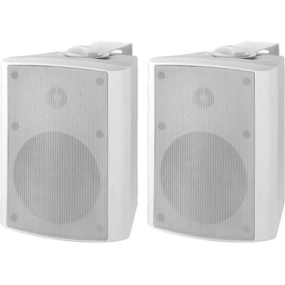 MKA-50SET/WS pair of 20w white powered cabinet speakers