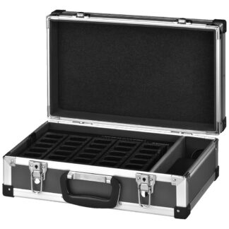 Monacor ATS-25C transport case with integrated charging function
