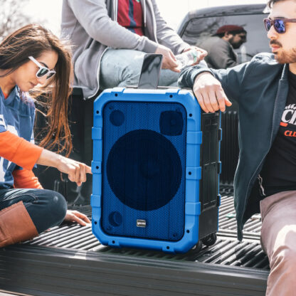 Gemini MPA-2400BLU blue IPX4 portable all-in-one sound system