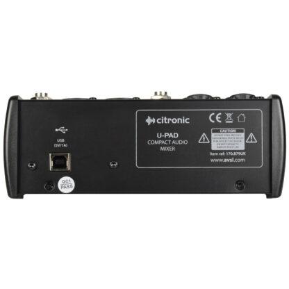 Citronic U-PAD compact mixer with USB interface
