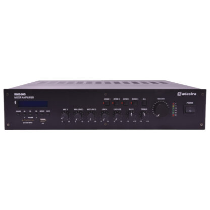 Adastra RM360S 360w 5 channel 100v line mixer amps with Bluetooth, MP3 and FM media player