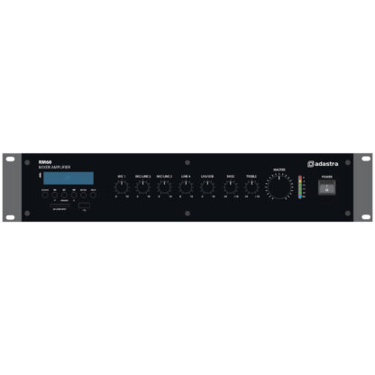 Adastra RM60 60w 5 channel 100v line mixer amps with Bluetooth, MP3 and FM media player