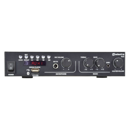 Adastra A22 25+25w RMS stereo public address amplifier