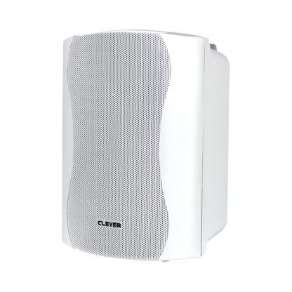 "Clever Acoustics WPS 25T 4"" 25w RMS 100v line weatherproof wall cabinet speaker in white finish"