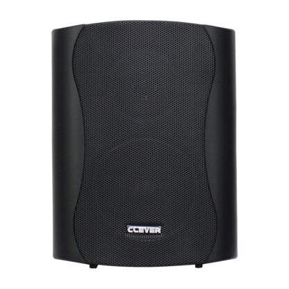 "Clever Acoustics WPS 35T pair of 5"" 35w RMS 100v line weatherproof wall cabinet speaker in black finish"