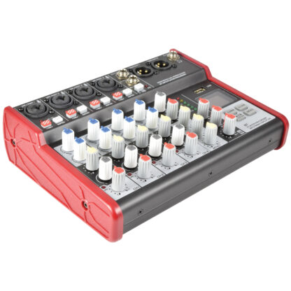 Citronic CSM-6 4 mono, 1 stereo input mixer with USB & Bluetooth