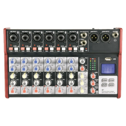 Citronic CSM-8 6 mono, 1 stereo input mixer with USB & Bluetooth