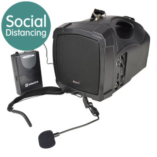 Adastra H25B portable all-in-one PA with wireless headmic and Bluetooth